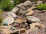 Water feature with rock work